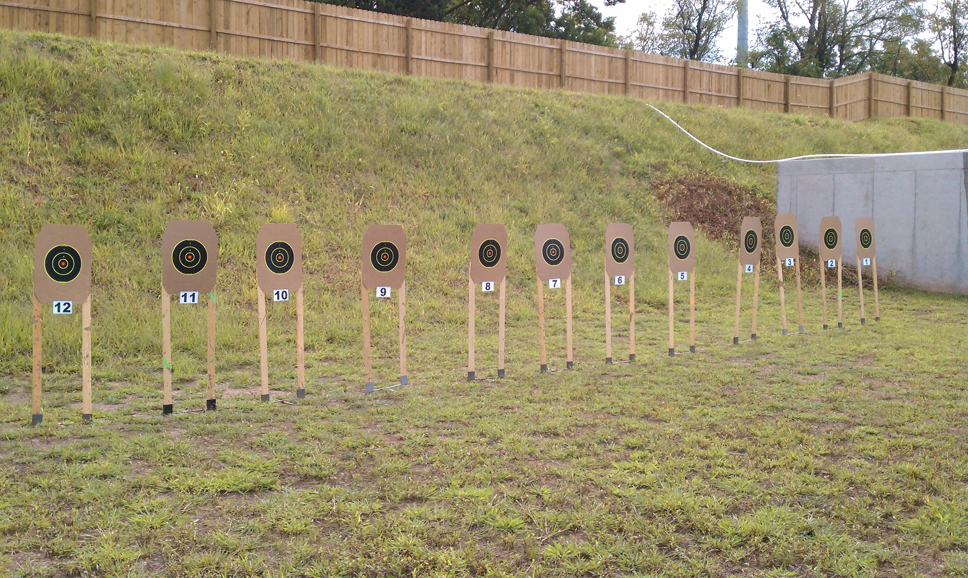 Is open for rifle and pistol shooting from a covered firing line