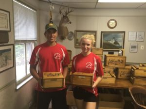 Christian Brassington, Jr Champion & Ellie Natoli, Lady Champion at Delaware County Sportsmen's Association Club Championship on 9/18/2016.